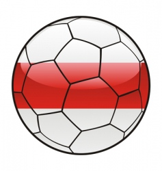 Belarus flag on soccer ball vector