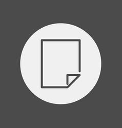 blank page icon signy symbol vector image