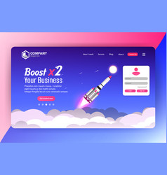 boost business website landing page templat vector image