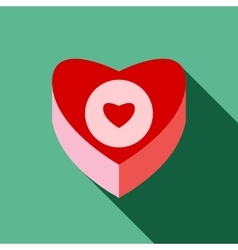 Box heart icon flat style vector
