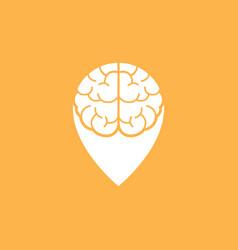 brain point place logo design template vector image