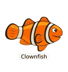 Clownfish sea fish cartoon vector image