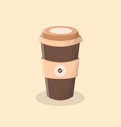 coffee to go cup of coffee vector image