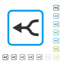 Combine arrow left framed icon vector