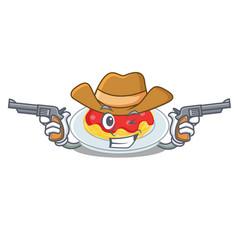 cowboy spaghetti character cartoon style vector image
