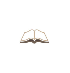 creative open brown book logo vector image
