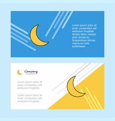 Cresent abstract corporate business banner vector