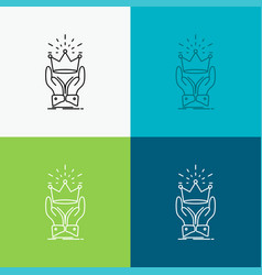 Crown honor king market royal icon over various vector
