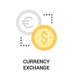 currency exchange icon concept vector image