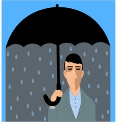Depressed man vector