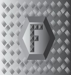 F Text Aluminium Wallpaper vector