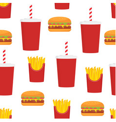 fast food seamless pattern design vector image