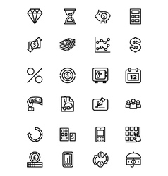 Finance Line Icons 7 vector image