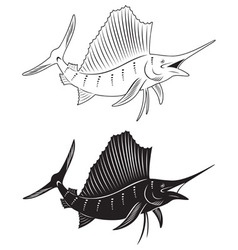 Fish marlin vector