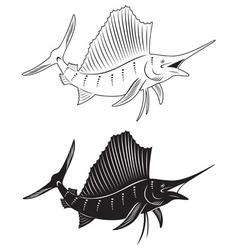 fish marlin vector image vector image