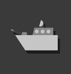 Flat icon design collection military warship vector