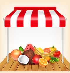 Fruits market concept vector