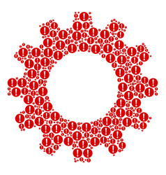 Gear mosaic of problem icons vector