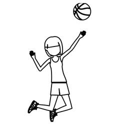 Girl playing basketball design vector