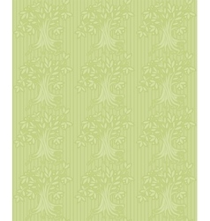 Green background with abstract tree vector