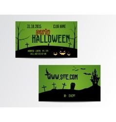 Happy Halloween Greeting Card vector image