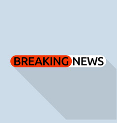 Hot breaking news logo flat style vector