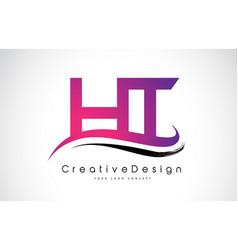 Ht h t letter logo design creative icon modern vector