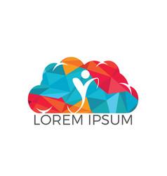 human health logo design vector image