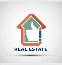 icon design real estate vector image