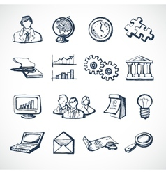 Infographic sketch icons vector image