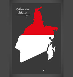 Kalimantan selatan indonesia map vector