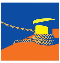 Knecht and mooring ropes vector image