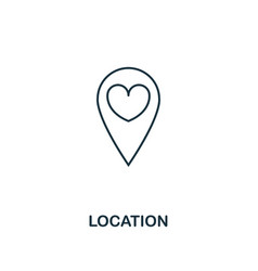 location outline icon premium style design from vector image
