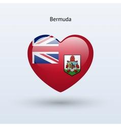 Love bermuda symbol heart flag icon vector