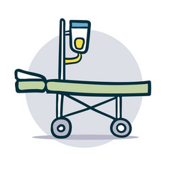 medical stretcher sketch icon vector image