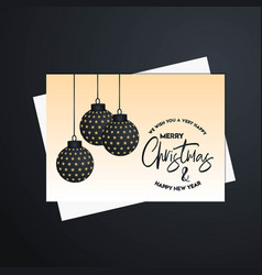 Merry christmas 2019 banner template vector