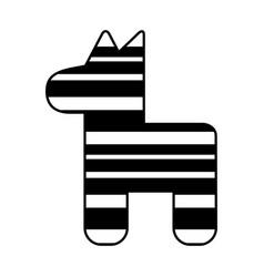Mexican pinata party icon vector