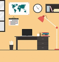 Modern office interior flat design vector
