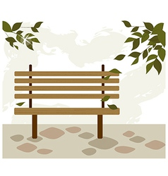 park bench background vector image