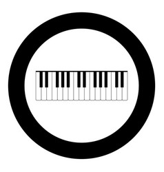 Piano keys icon black color in circle vector