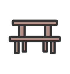picnic of table vector image