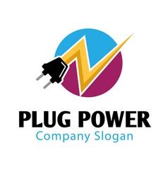 Plug Power Design vector
