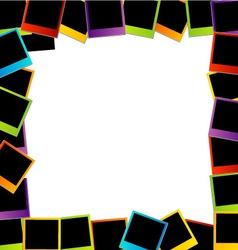Polaroid frame- colorful polaroids vector