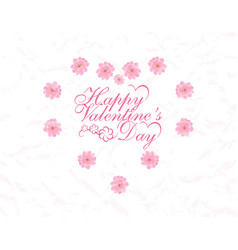 postcard in honor of valentine s day vector image