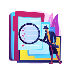 Private investigation abstract concept vector