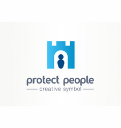 protect people creative symbol concept human vector image