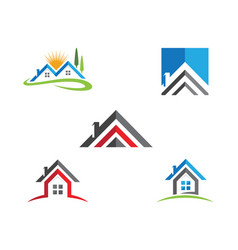 real estate property and construction logo design vector image