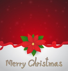 Red Christmas Invitation or Greeting Card Backgrou vector image