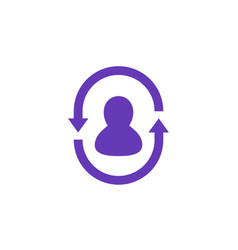 Returning customer client retention icon vector