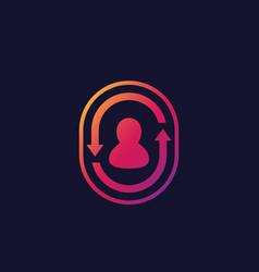 returning customer client retention vector image